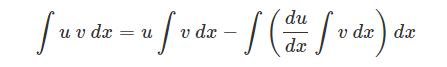 Integration by parts formula